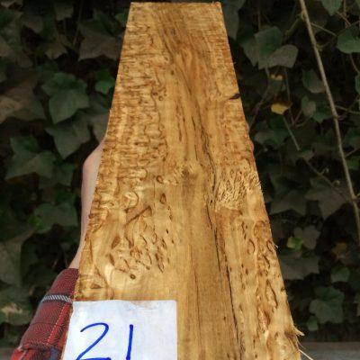 Curly Karelian / Masur Birch 16x3.75x1.75 inches