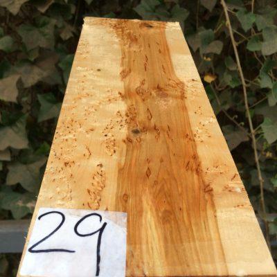 Curly Karelian / Masur Birch 12.5x4.5x2.25 inches