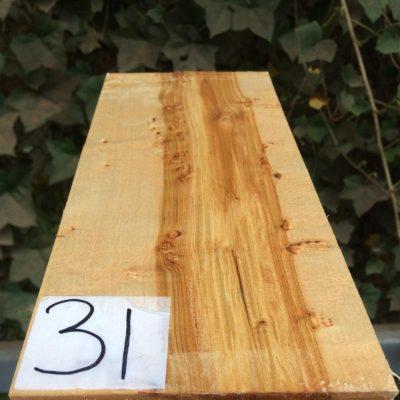 Curly Karelian / Masur Birch 10x4.75x2.25 inches