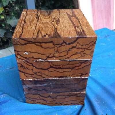 Marblewood 6x6x2 inches