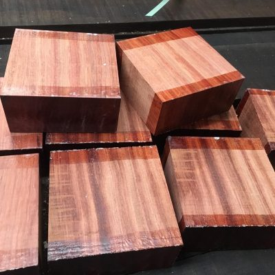 Bubinga 5x5x3 inches