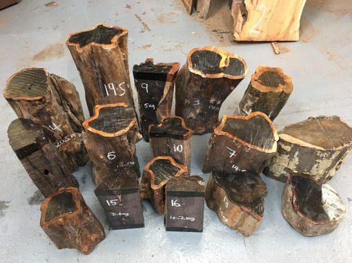 African Blackwood logs