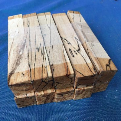 Spalted Beech Pen Blank 21x21x130 mm