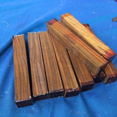 Cocobolo Pen Blank 21x21x150 mm
