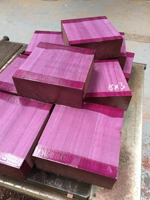 Purpleheart 8x8x3 inches