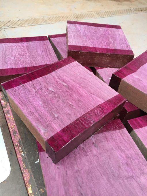 Purpleheart 8x8x2 inches