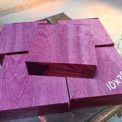 Purpleheart 10x10x3 inches