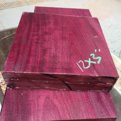 Purpleheart 12x12x3 inches