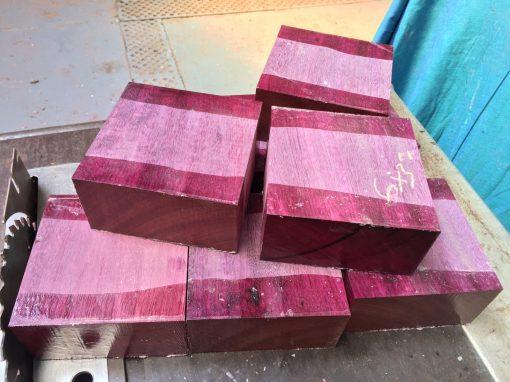 Purpleheart 6x6x3 inches