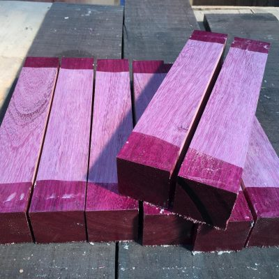 Purpleheart 2x2x12 inches