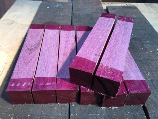 Purpleheart 2x2x12 inches