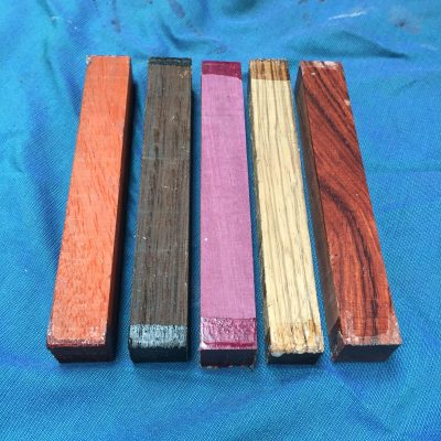 Exotic Pen Blank Mix 21x21x150 mm