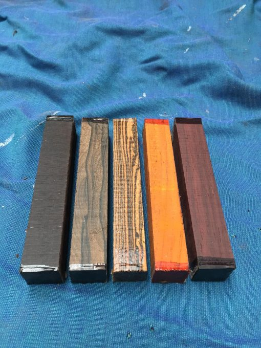 Deluxe Exotic Pen Blank Mix 21x21x150 mm Qty:5
