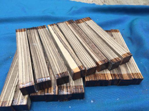 Zebrano Pen Blank 21-23mm sq x 150mm long