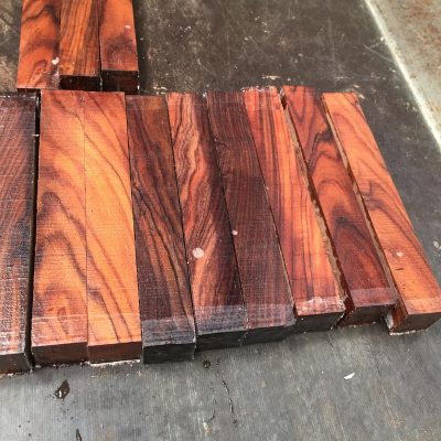Bolivian Rosewood Pen Blank 21x21x150 mm