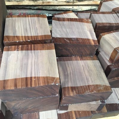 American Walnut 7.5x7.5x3 inches (190x190x75 mm)