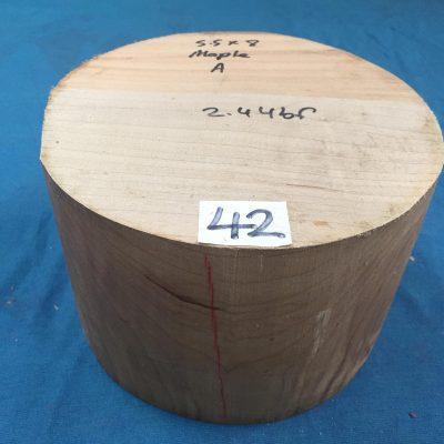 Maple A Grade 8x5.5 inches