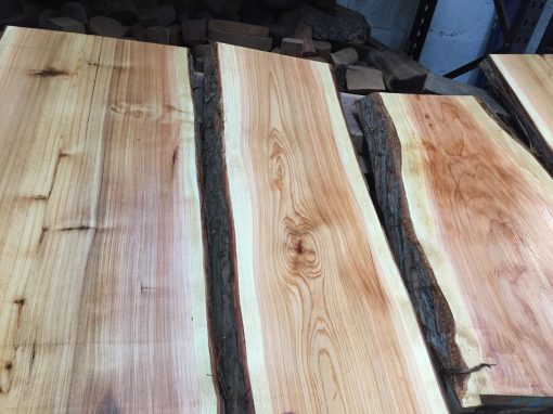 Western Red Cedar 50mm waney edged lumber