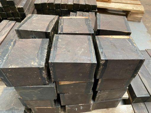 African Blackwood (FSC 100%) 4x4x3 inches