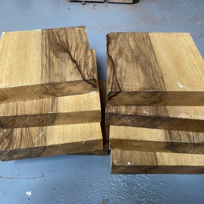 Black Limba / Korina 10x10x2 inches