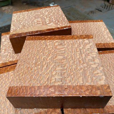 Leopardwood 6x6x2 inches