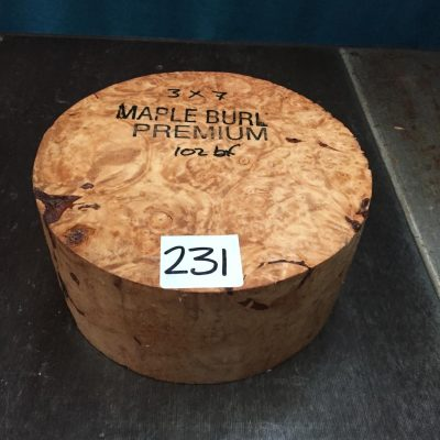 Maple Burr (Premium) 7x3 inches
