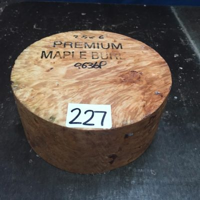 Maple Burr (Premium) 6x2.5 inches MB224