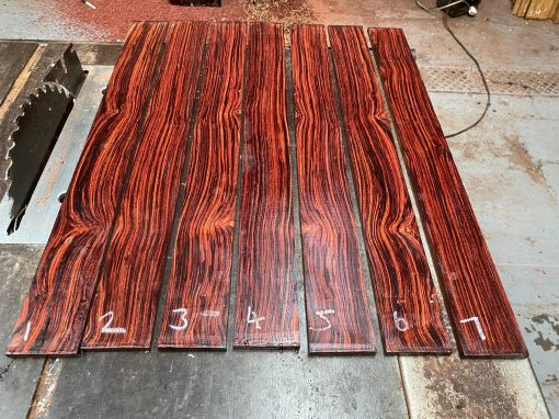 Mexican Cocobolo fingerboard 670x70x9 mm