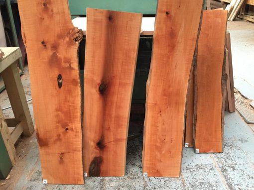 Pearwood 25-30mm waney edge lumber
