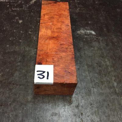 Amboyna Burr Knife Blank 150x40x24 mm