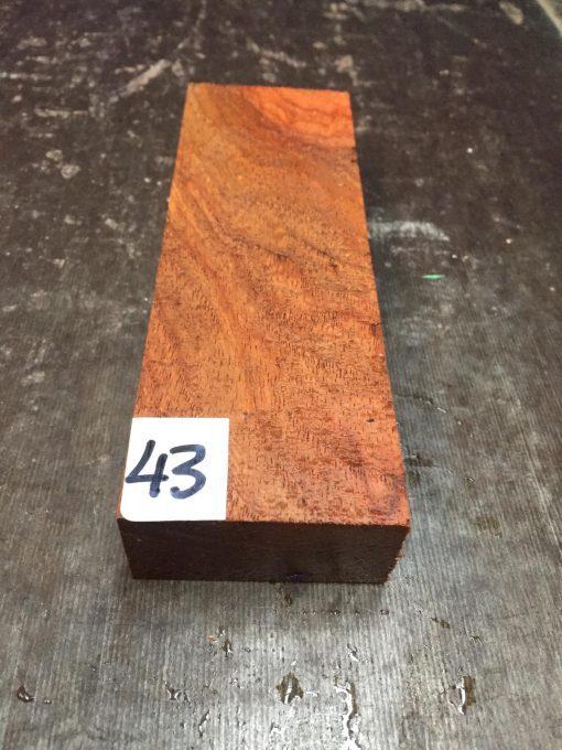 Amboyna Burr Knife Blank 155x50x25 mm