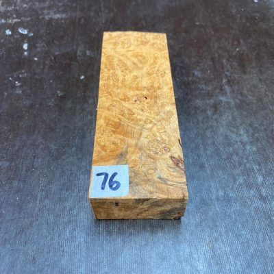 Buckeye Burl Knife Blank 135x47x28 mm