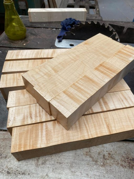 Curly Maple 2x2x12 inches