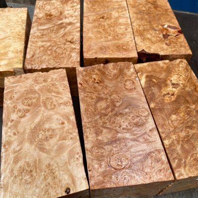 Maple Burr (Premium) 3x3x6 inches