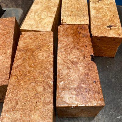 Maple Burr (Premium) 3x3x8 inches
