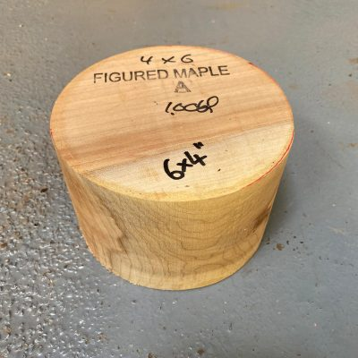 Figured Maple 6x4 inches