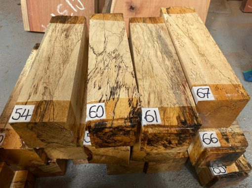 Spalted Tamarind 3x3x12 inches