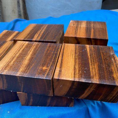 Tigerwood (Goncalo Alves) 5x5x2 inches