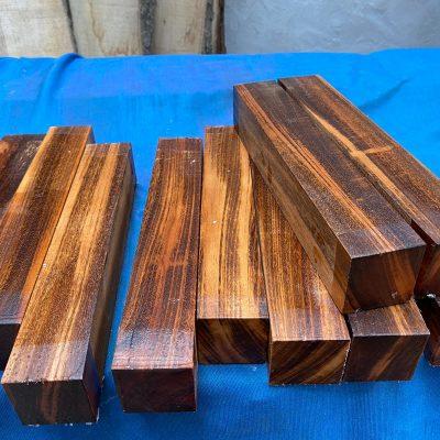 Tigerwood (Goncalo Alves) 2x2x12 inches