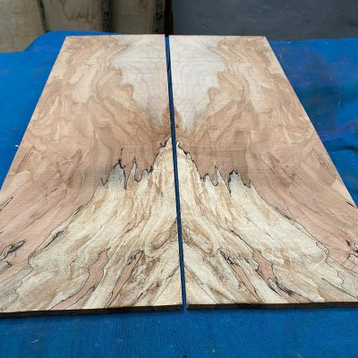 Flamed / Spalted Maple Guitar tops 560x185 mm