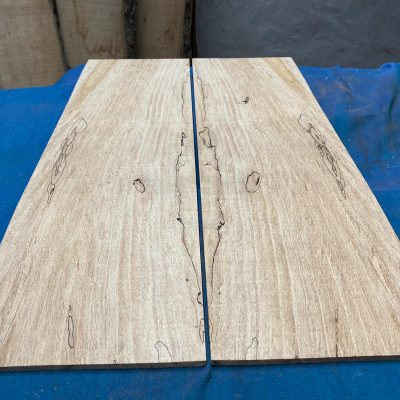 Flamed / Spalted Maple Guitar tops 595x185 mm