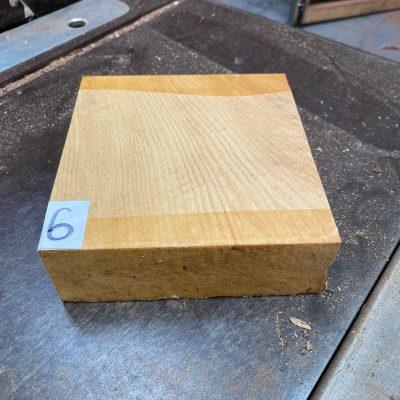 Pau Amarello 6x6x2 inches