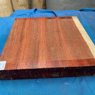 Bloodwood 12x12x2 inches