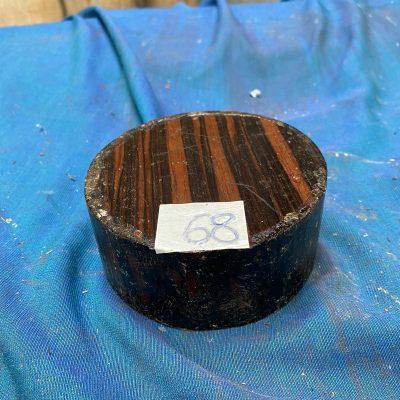 Striped Ebony 4.5x2 inches