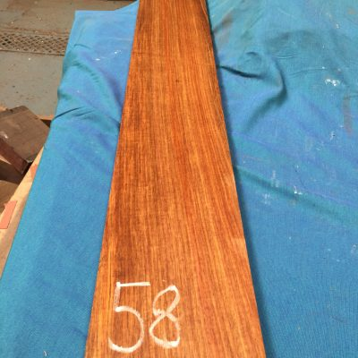Kiaat 45x6x1 inches