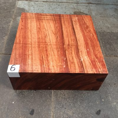 Namibian Rosewood 8x8x3 inches