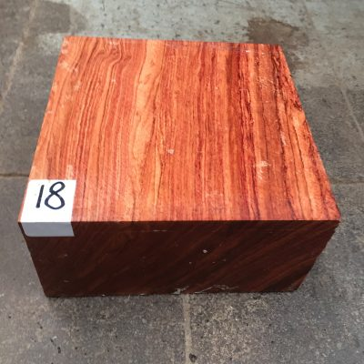 Namibian Rosewood 6x6x3 inches