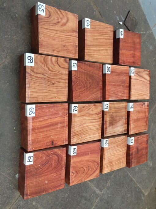 Namibian Rosewood 5x5x2 inches