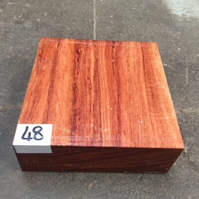 Namibian Rosewood 6x6x2 inches