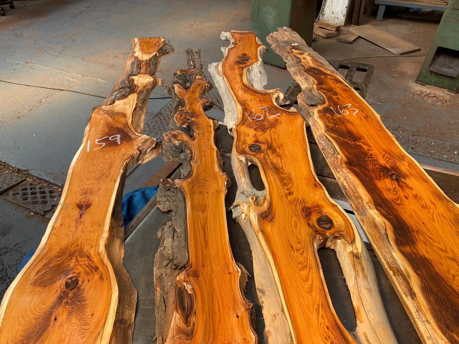 Yew Waney edge lumber